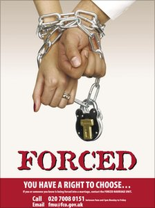Forced Marriage Unit campaign poster
