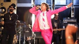 Mick Jagger performs with SuperHeavy