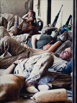 3rd Platoon enjoy some downtime