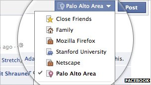 Facebook's new friends list options