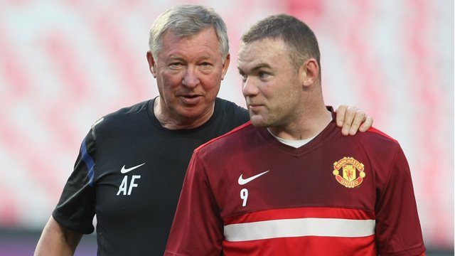 Sir Alex Ferguson and Wayne Rooney