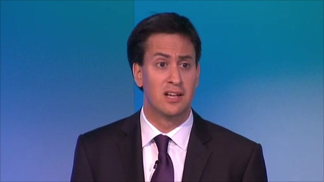 Labour Leader Ed Miliband at TUC annual conference