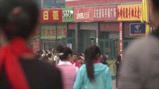 A street in Dalian