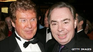 Original star Michael Crawford (l) with composer Andrew Lloyd Webber (r)