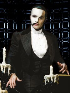 Ramin Karimloo as the Phantom in a scene from the Phantom of the Opera sequel Love Never Dies
