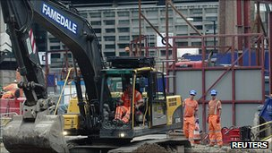 Work on the Crossrail development in London
