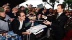 Colin Firth signs autographs