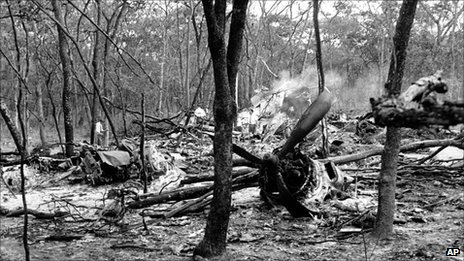 The crash site of Dag Hammarskjold DC6 plane