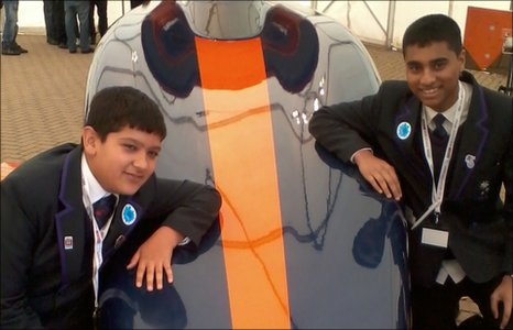 School Reporters Kamran and Ashraf at the British Science Festival