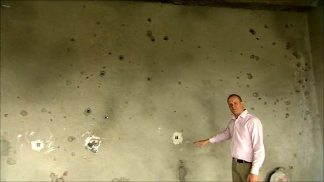 Quentin Sommerville inside the tower block in Kabul where insurgents Nato forces