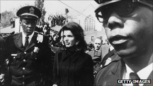 Jackie Kennedy at MLK funeral
