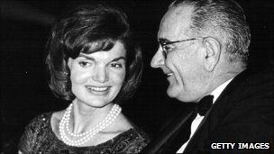 Jackie Kennedy with LBJ
