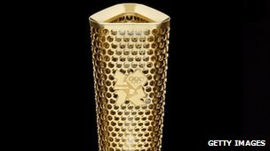 The prototype for the London 2012 Olympic torch