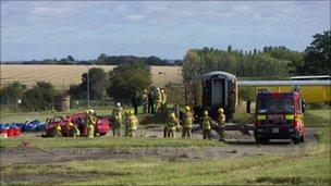 Suffolk Fire & Rescue service training at Wattisham