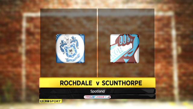 Rochdale 1-0 Scunthorpe