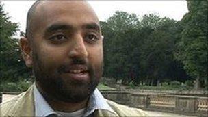Former Nottingham student Rizwaan Sabir