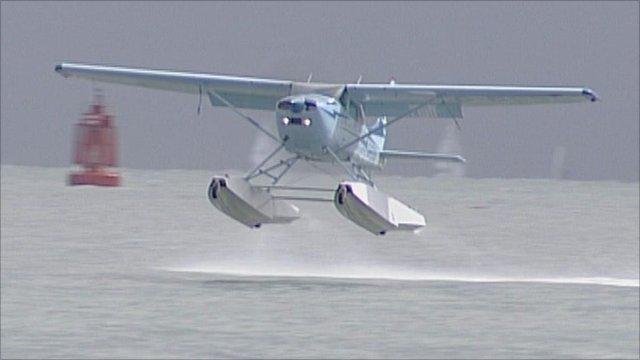Seaplane taking part in the Schneider Trophy