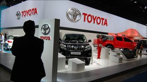 Toyota's stand at the show