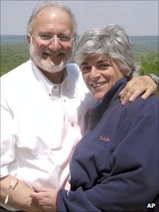 Alan Gross in a file photo with his wife Judy