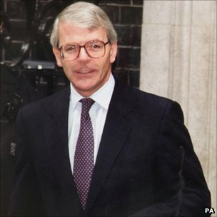 John Major, seen leaving Number Ten Downing Street in 1992