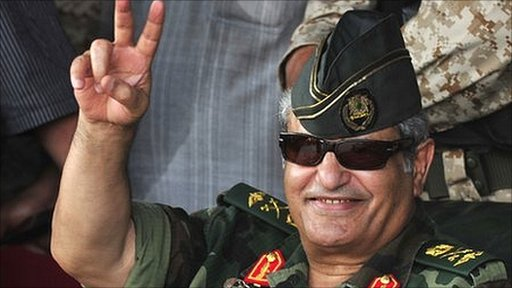 Abdel Fattah Younes in Benghazi on 6 July 2011