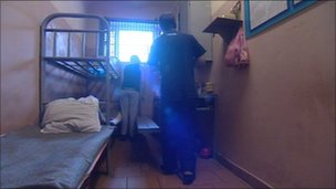 Inmates inside Moscow's Butyrka remand prison