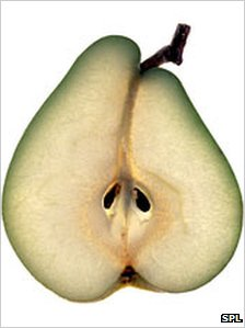 A slice of pear