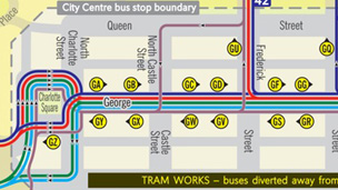 Bus diversions
