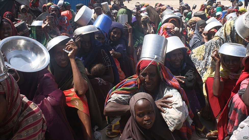 Somali famine refugees in Mogadishu