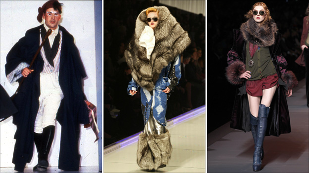 John Galliano's work from his 1984 graduate show; March 2004 and March 2011