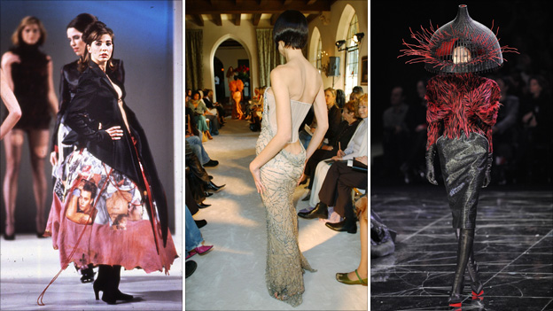 Alexander McQueen's work from his graduation collection in 1992; January 2004 and March 2009