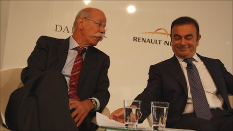 Dieter Zetsche (left) and Carlos Ghosn