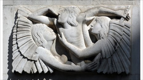 Detail of relief at Broadcasting House