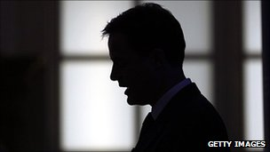 Nick Clegg in silhouette
