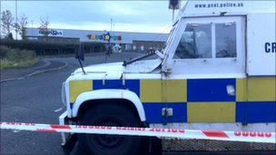 Scene of the attack in Newtownabbey