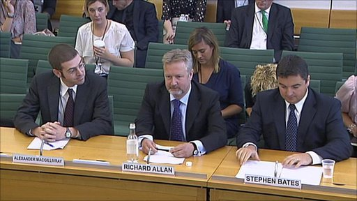 Twitter, Facebook and Blackberry giving evidence to MPs