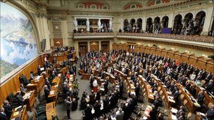 Swiss parliament in session
