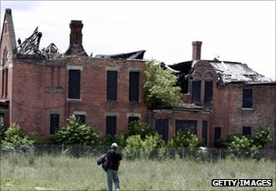 Derelict building in Detroit