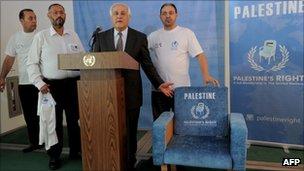 Symbolic Palestinian UN chair