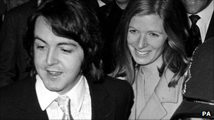 Paul McCartney leaving Marylebone Registry Office after marrying Linda Eastman