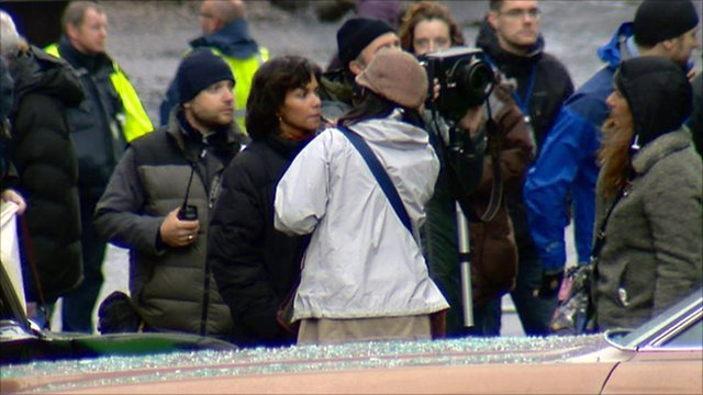 Halle Berry on the set of new film Cloud Atlas