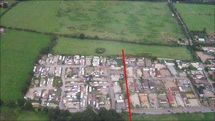 Dale Farm aerial photo