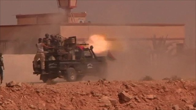 Anti-Gaddafi fighters in Bani Walid