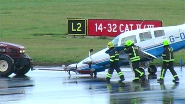 Plane towed off runway at Leeds Bradford airport