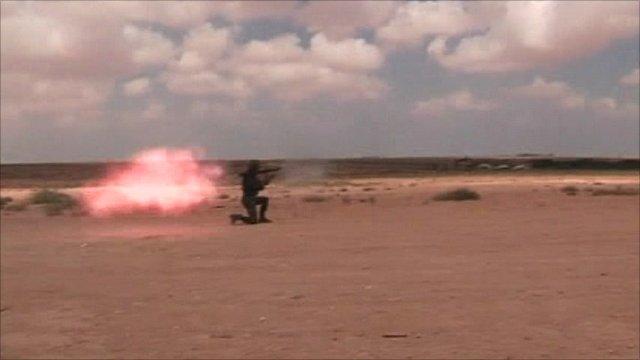 Anti-Gaddafi forces outside Sirte
