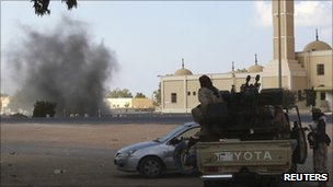 Anti-Gaddafi forces at Sirte, 17 Sept