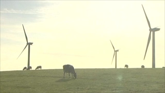 Wind farm scene