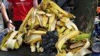 Pile of banana skins