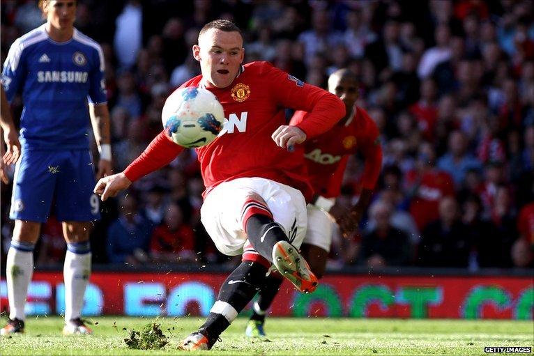 Wayne Rooney missing a penalty