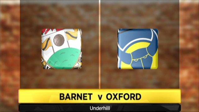 Barnet 0-2 Oxford Utd